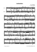 Andantino, arranged for two cellos (cello duo / duet)