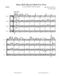 Daisy Bell (Bicycle Built for Two), arranged for cello ensemble/mixed-level cello quartet